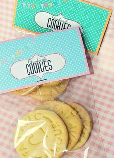 cookies packaging free printable