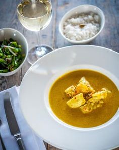 Rick Stein's Indonesian Seafood Curry with Monkfish, Tiger prawns & Squid