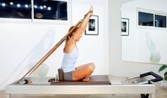 Pilates Reformer Exercise Instructions for The Rowings 5 and 6: Rowing 5 - Step 4