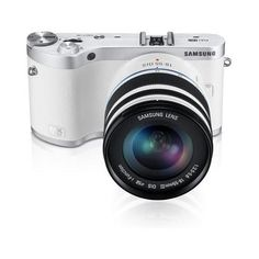 "Samsung NX300 20.3MP CMOS Smart WiFi Compact Interchangeable Lens Digital Camera with 18-55mm Lens and 3.3"" AMOLED Touch Screen (White)"