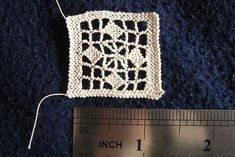 Video above the image demonstrates the knot. Puncetto needle lace