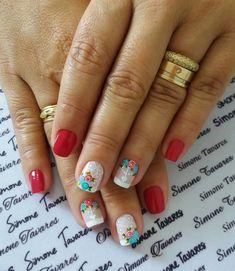 100 Fotos de Unhas decoradas Românticas Cute Nail Designs, Cute Nails, Sims, Nail Art, Beauty, Wallpaper, Crochet Fruit, Nails Inspiration, Nail Hacks