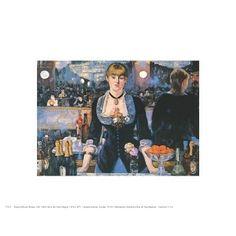 ''Bar at the Follies Bergere'' by Edouard Manet Mini-Prints Art Print