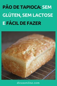 Pão de tapioca: receita fácil, saudável e nutritiva #Dicas #Truques #Cozinha #Culinaria #Comida #Receitas #ReceitaCaseira #ReceitasFaceis #PaoDeTapioca #Tapioca #Pao Lactose Free, Zero Lactose, Banana Bread Recipes, No Carb Diets, Dairy Free Recipes, Love Food, Food And Drink, Cooking Recipes, Pizza Recipes