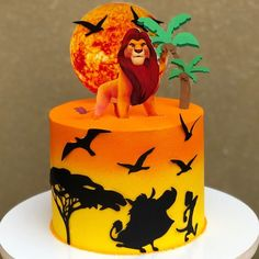 Lion King Theme, Lion King Party, Lion Gaurd Cake, Lion King Cupcakes, Cake Designs For Boy, Leopard Cake, Lion Cakes, Lion King Birthday, 4th Birthday Cakes