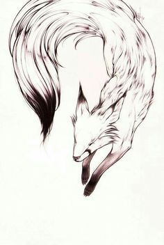 fox by ~theumbrella on deviantART. sweet fox tattoo this would make Trendy Tattoos, Tattoos For Women, Animal Drawings, Art Drawings, Fuchs Tattoo, Simple Tats, Neue Tattoos, Fox Tattoos, Deer Tattoo