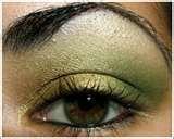 Yellow green and gold smokey eye shadow tutorial