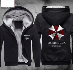 High-Q Unisex Resident Evil Umbrella pullover Cardigan hoodie coat jacket Resident Evil thickening Cardigan Hoodies jacket coat