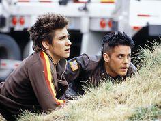 "Jake Gyllenhaal and Jared Leto in ""Highway"" (2002)."