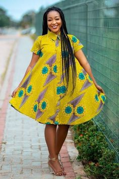 Modern African Print Dresses, Short African Dresses, African Fashion Ankara, African Print Fashion, African Style, African Fashion Traditional, Traditional Outfits, Plus Size Maternity Dresses, Fashion Illustration Dresses