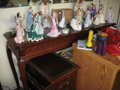 Lots of figurines collected by the homeowner