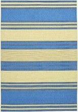 Blue and beige come together in this striped area rug which will look beautiful in a contemporary country home.