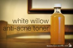 white willow bark anti acne toner. Naturally contains salicylic acid. Make it yourself.