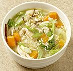 Chicken Noodle Soup with Baby Bok Choy and Shiitake
