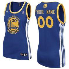 Customized Swingman Golden State Warriors NBA Quality Fabrics Road Women Royal Blue Adidas Jerseys