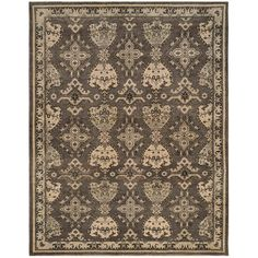 Oushak Dark Gray Hand Knotted Wool Rug ($1,490) ❤ liked on Polyvore featuring home, rugs, oushak rugs, charcoal rug, charcoal wool rug, dark gray rug and hand knotted rugs