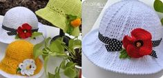 Crochet-Panama-Hats-for girls DIY2