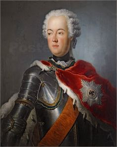 """Portrait of Prince August Wilhelm of Prussia (1722-1758), General of the Prussian Army, Knight Grand Cross of the Order of the Black Eagle"" by Antoine Pesne (1742)"