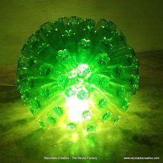 125 recycled bottles lamp #Bottle, #Lamp, #Lampshade, #Plastic
