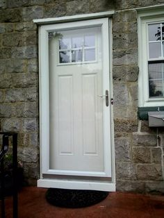 Need a new front entry like this? Go to www.mmbuilds.com Front Entry, Windows And Doors, Tall Cabinet Storage, Furniture, Home Decor, Homemade Home Decor, Home Furnishings, Decoration Home, Welcome Door