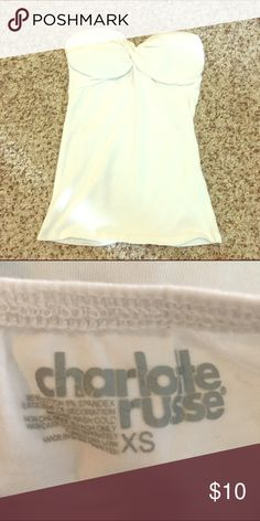 💙NWOT White Tube Top . Charlotte Russe Tops