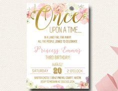 Once Upon A Time Fairy Tale Birthday Boho Chic by DesignOnPaper