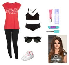 """""""CocaCola"""" by kristi-official ❤ liked on Polyvore featuring M&Co, Base Range, Calvin Klein Underwear, Beauty Rush, Victoria's Secret PINK and Ray-Ban"""