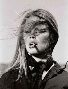 Brigitte Bardot Smoking a Cigarette | Digital download - Printable Poster
