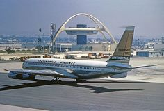 The Jet with the Golden Tail - Continental Airlines Boeing 707 at Los Angeles International Airport (LAX)- 26 December 1962