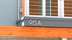 915 A SoCal - modern house numbers US style