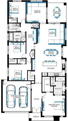 Image result for floor plan for 14m wide block