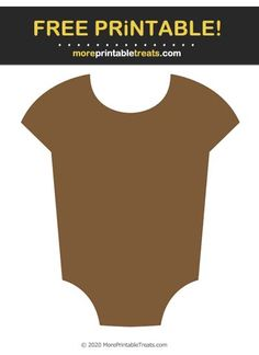Brown Baby Onesie Cut Out