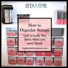 How to Organize Stamps and Stamping Accessories How to Organize Stamps promo image small Scrapbook Room Organization, Craft Organisation, Scrapbook Storage, Scrapbook Rooms, Scrapbook Supplies, Craft Room Storage, Craft Rooms, Storage Ideas, Paper Storage