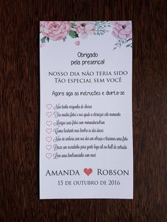 Cartão com as recomendações para os convidados aproveitarem a festa !    Tamanho = 20 x 10 cm    Papel Vergê    Montamos a arte no tema do seu evento.