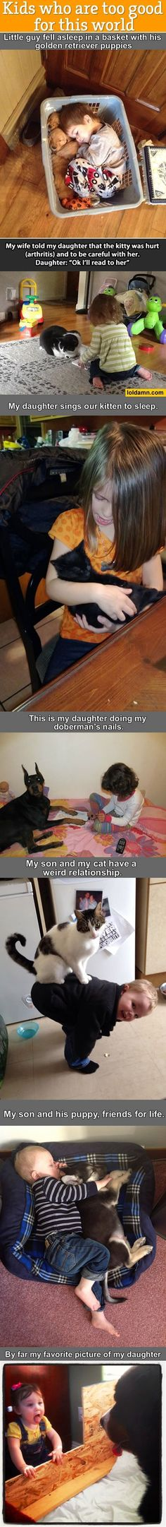 Adorable! This is good parenting! Parents should teach their kids to love and respect animals! :)