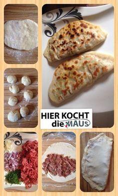<< Gözleme – Pfannenbörek (-Teig mit nur 3 Zutaten) mit Hackfleisch <<  Rezept: www.facebook.com/hierKochtDieMaus