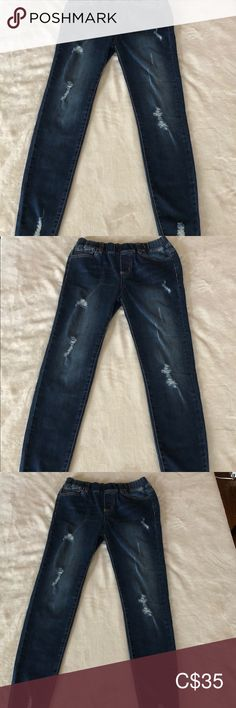 EUC Pull on Grace & Lace jeggings Sz Medium EUC Distressed Mid-Rise Pull-On Denim by Grace & Lace. Only wore once - too short waisted for me. Lace Jeans, Grace And Lace, Jeggings, Ankle, Shorts, Denim, How To Wear, Closet, Things To Sell