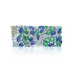 Tiffany & Co. -  Bracciale con Tanzaniti e Tsavoriti