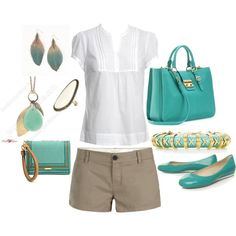 perfect summer outfit - but need longer shorts!