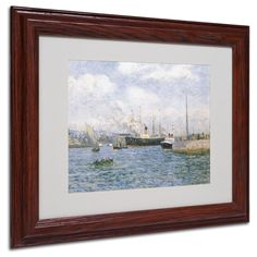Maxime Maufra 'Departure from Havre 1905' Matte, Wood Framed Wall Art