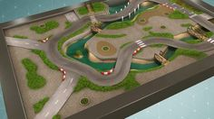 """CARPETO : """"Circuit urbain"""" - Illustration 180x120 cm, réalisée par Vincent Subréchicot - #tapis de jeux"""