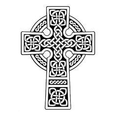 Bold Celtic Cross Coloring Page