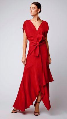 Plumetis Lace-Detailed Chiffon Midi Dress by Self Portrait Elegant Dresses, Beautiful Dresses, Nice Dresses, Mob Dresses, Fashion Dresses, Evening Dresses, Summer Dresses, Orange Dress, Formal Gowns