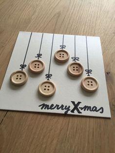Kerstkaarten knutselen met knopen