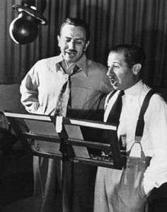Walt Disney & Clarence (Ducky) Nash ~ voicing Mickey Mouse and Donald Duck.