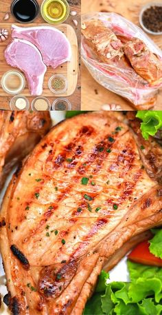 This delicious and easy pork chop marinade is going to kick your pork chops up to AMAZING and they are What's For Dinner?!