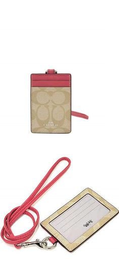 Other Womens ID and Doc Holders 169289: Nwt Coach Sign Pvc Lanyard Id Case In Lt Khaki Strawberry F 63274 -> BUY IT NOW ONLY: $40.8 on eBay!