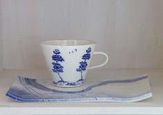 Ann Linnemann studio gallery: Landscape Blue - Coffee/tea sets