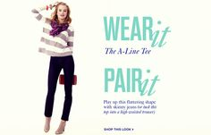 A-Line tee, skinny jeans, booties, and cool scarf
