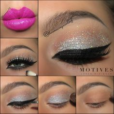 Starry Eyes makeup tutorial for Halloween using Motives Cosmetics